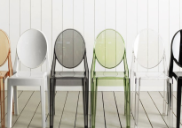 O estilo das Cadeiras Ghost Coloridas