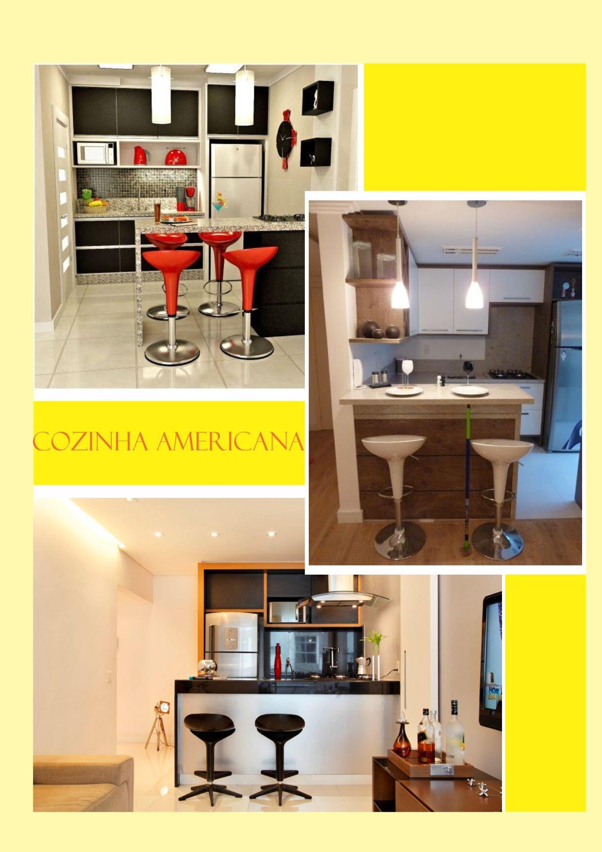 #CBBF00 As banquetas são um dos toques principais para uma cozinha americana  1240x1754 px Altura Ideal Para Balcão De Cozinha Americana #1775 imagens