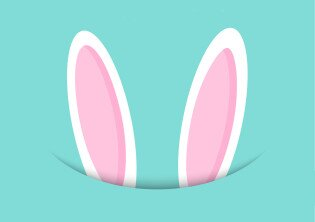 Easter background with cute bunny ears